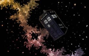 TARDIS in space by HeroFromMars