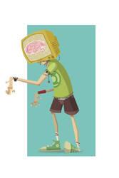 Zombie Head by Big-Bouk