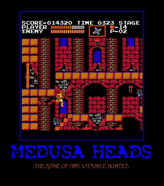 Image result for Castlevania medusa head meme