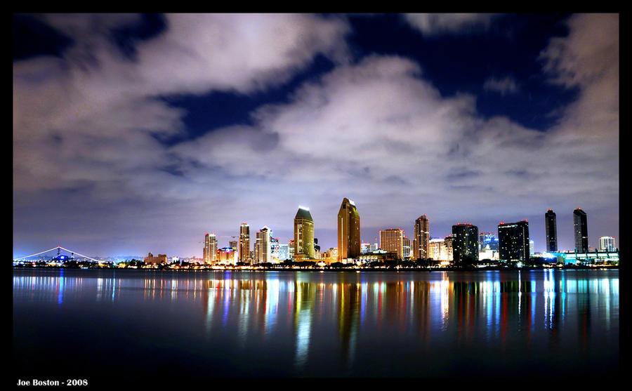 San Diego Night Scene by JoeBostonPhotography