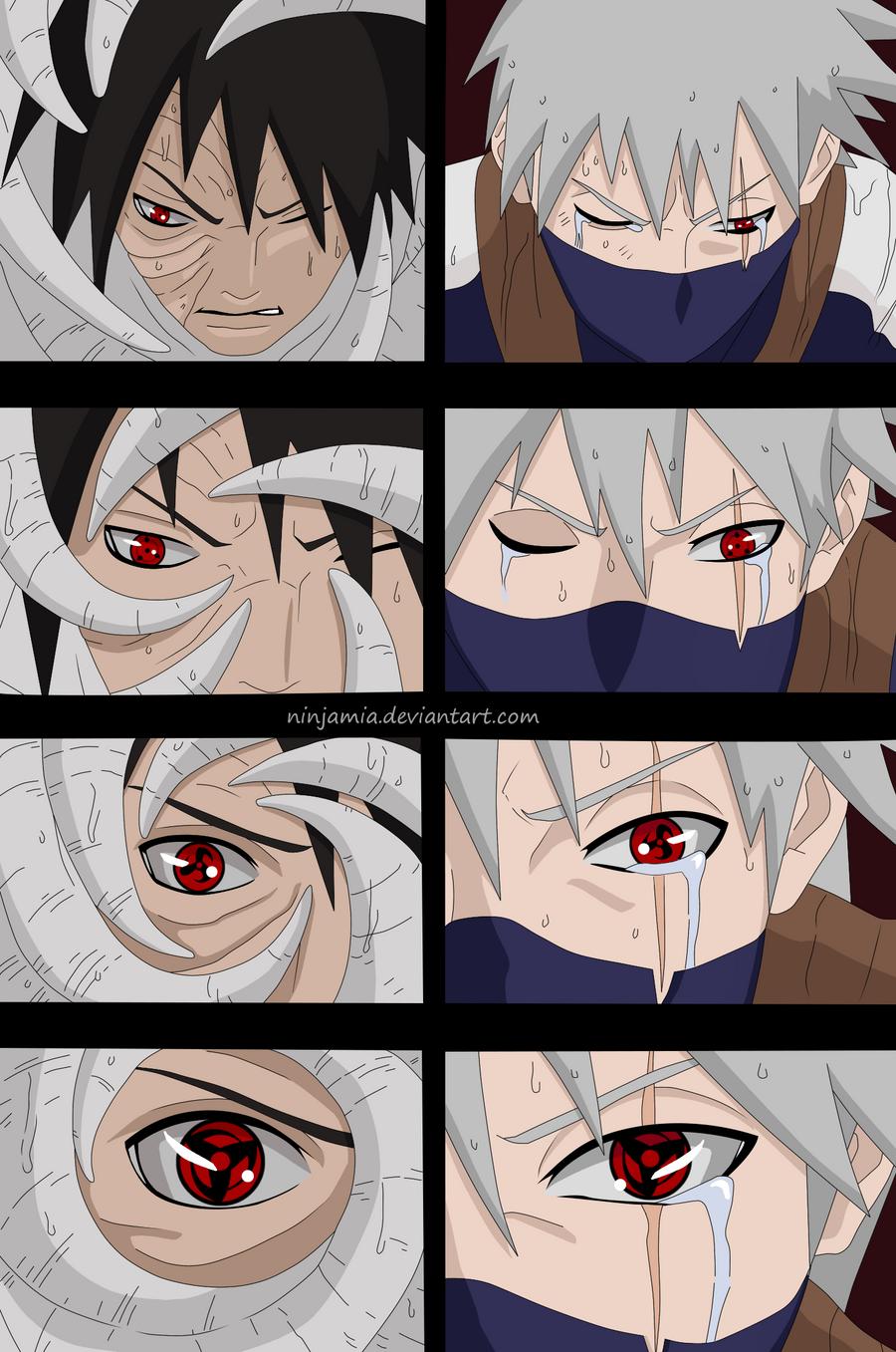 Naruto 605: Man... Kakashi Mangekyou Sharingan Contacts