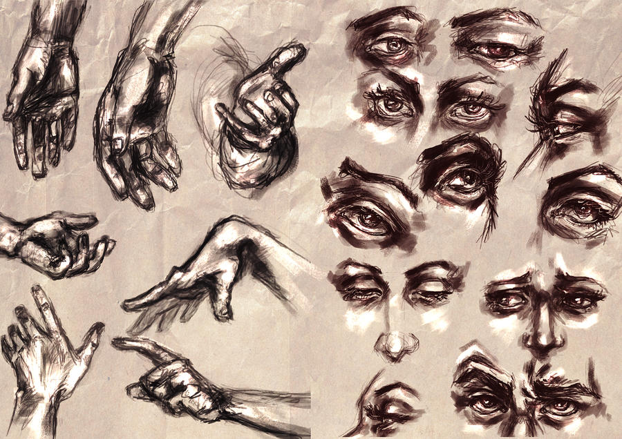 Study 2- Eyes and Hands by RuxandraLache