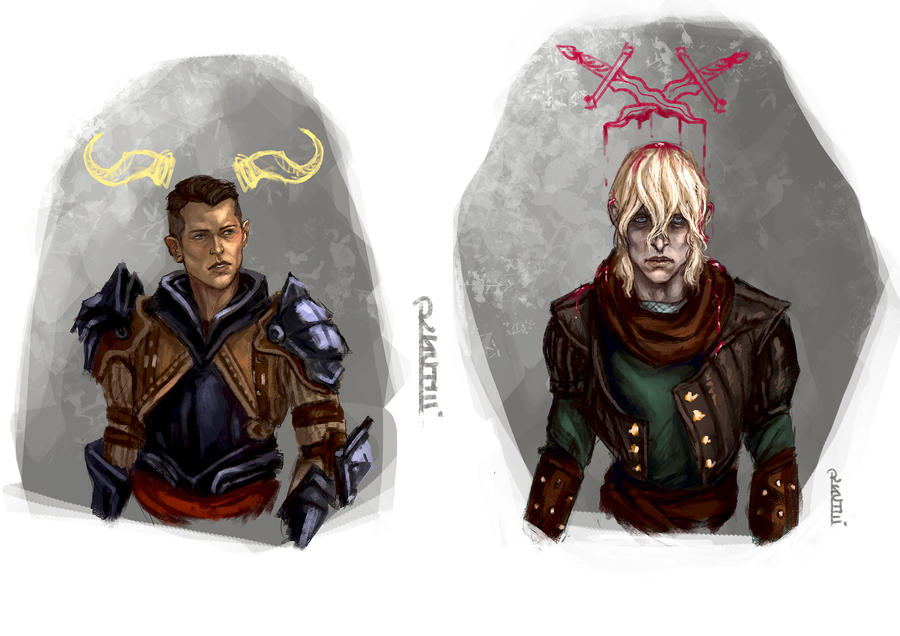 Commissions - Krem and Cole by RuxandraLache