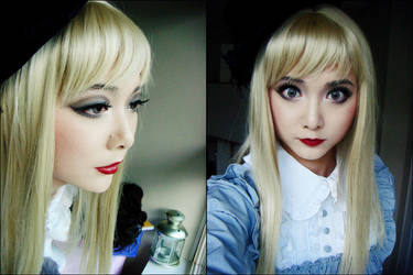 Creepy Doll Makeup by ChasseNeige