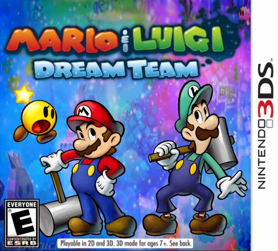 Mario And Luigi Dream Team Fan Made Box Art Fake By Baruch97 On