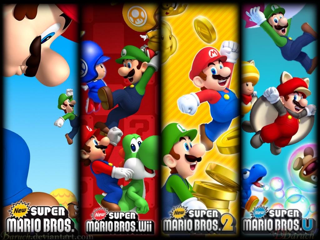 Super Mario Bros. Games Wallpaper