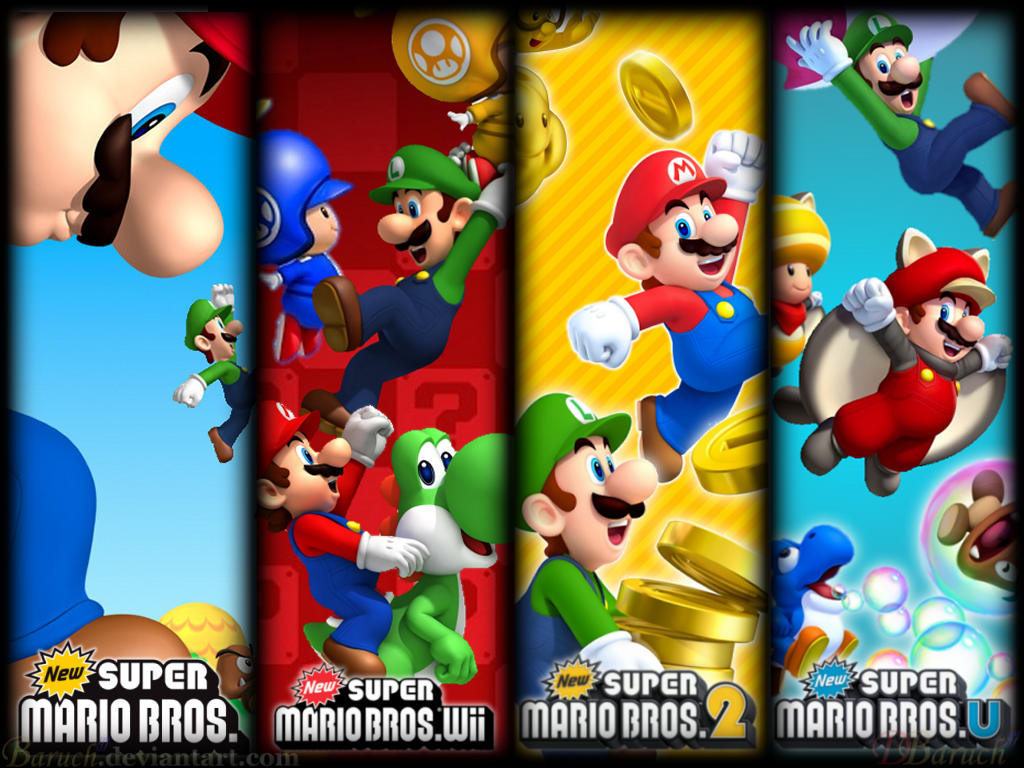 All New Super Mario Bros Games Wallpaper 1024x768 By Baruch97 On