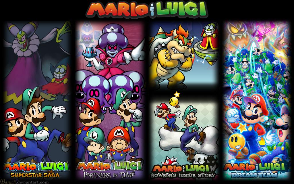 All mario and luigi games wallpaper 1440x900 by baruch97 on deviantart all mario and luigi games wallpaper 1440x900 by baruch97 altavistaventures Gallery