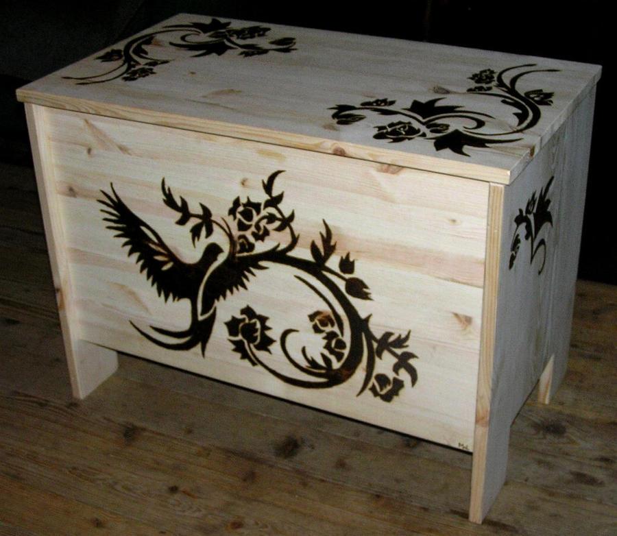 wood chest - pyrography by TYTYRYTY-GOSIK on DeviantArt
