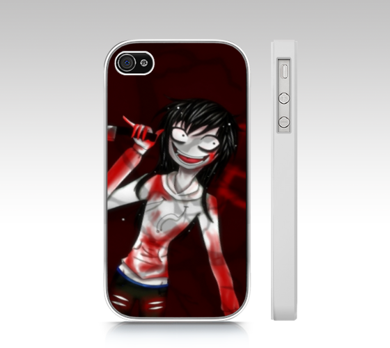 Jeff the Killer iphone 4S cover by SweetBunni