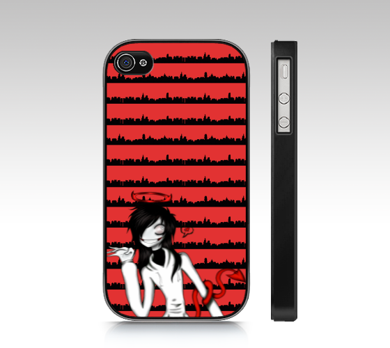 Jeff the Killer iphone 4S cover 2 by SweetBunni