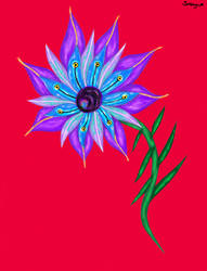 Snake galaxy flower thing by VisualKeiBunny