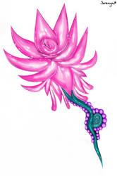 Pink lotus flower by VisualKeiBunny