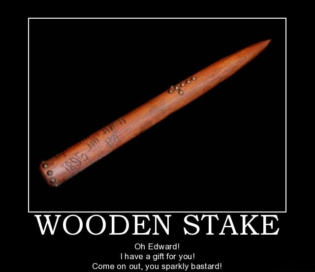 Wooden Stake Poster by Lycan-wolf96