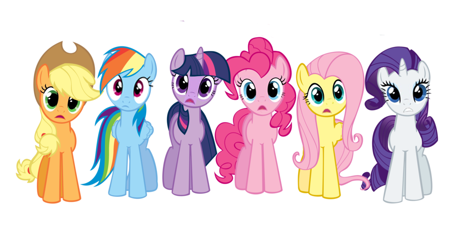 Obraz - Rainbow and Pinkie in shock and awe EG3.png