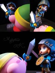 Sword Kirby verus Link by Humdeedum233