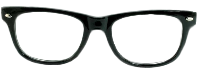 D Glasses Template Vector