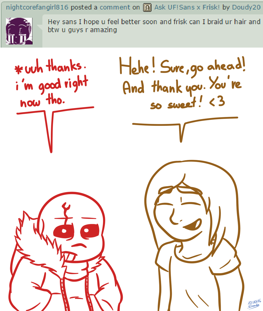 UF!Sans X Frisk Ask #6 By Doudy20 On DeviantArt