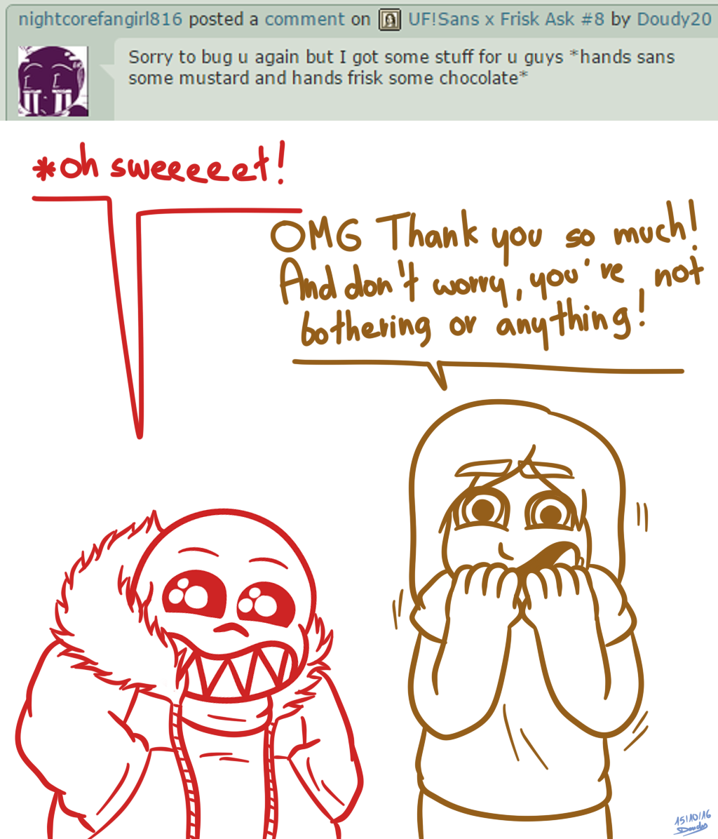 UF!Sans X Frisk Ask #11 By Doudy20 On DeviantArt