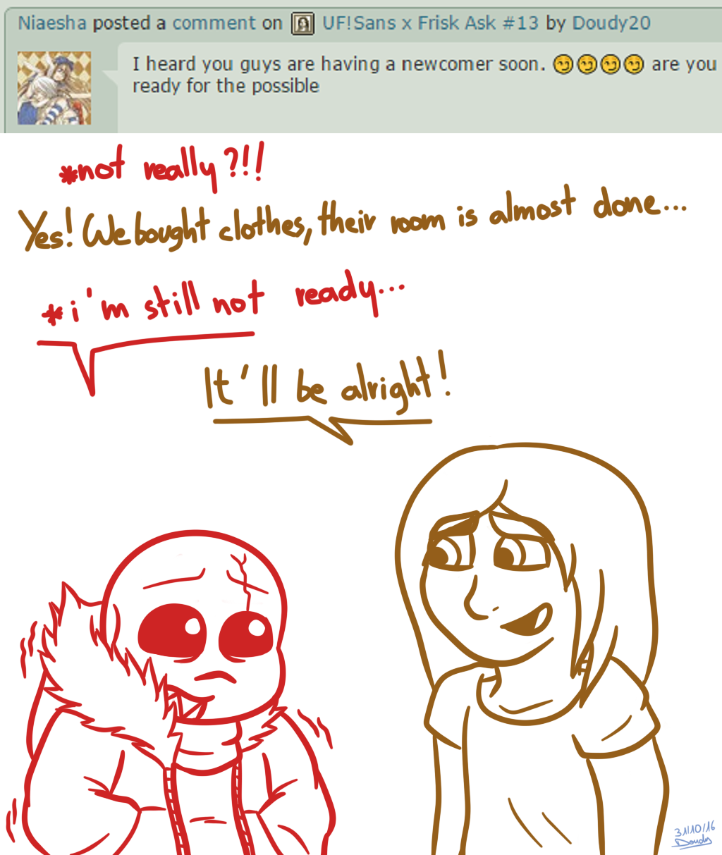 UF!Sans X Frisk Ask #17 By Doudy20 On DeviantArt
