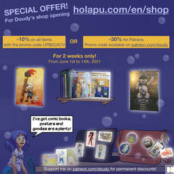Doudy's new shop SPECIAL OFFER! Last day!