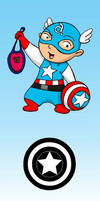 Baby Avengers Capitan America