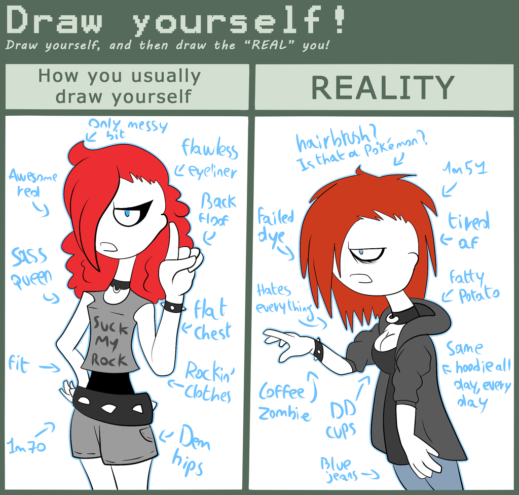 draw yourself meme by breeoche on deviantart