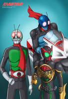 Kamen Rider 40th Anniversary by Yuuyatails
