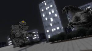 [MMD render] Godzilla vs Kiryu by Yuuyatails