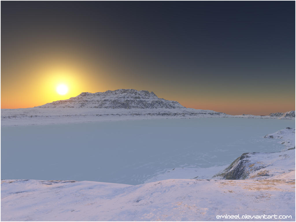 Sunset Over The Thin Ice by eMBeeL