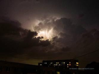 Night Electric Storm