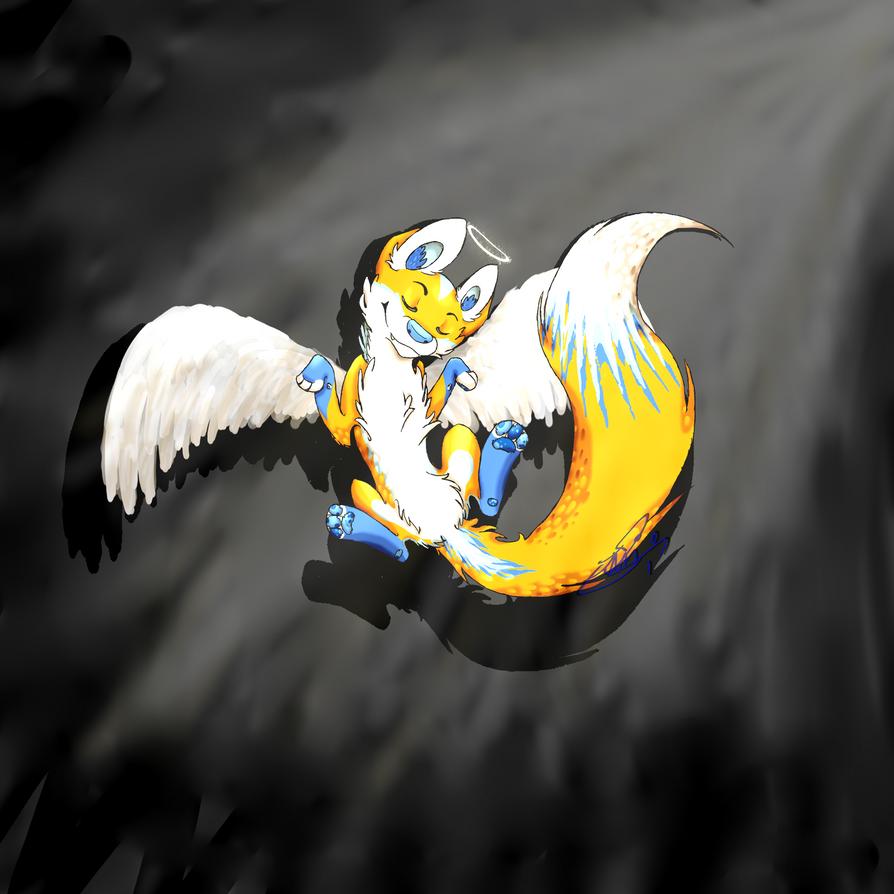 Floating angel by Emizi