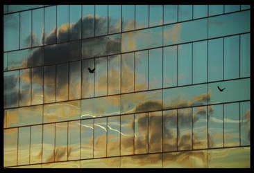 sunset in Brussels by yanjin
