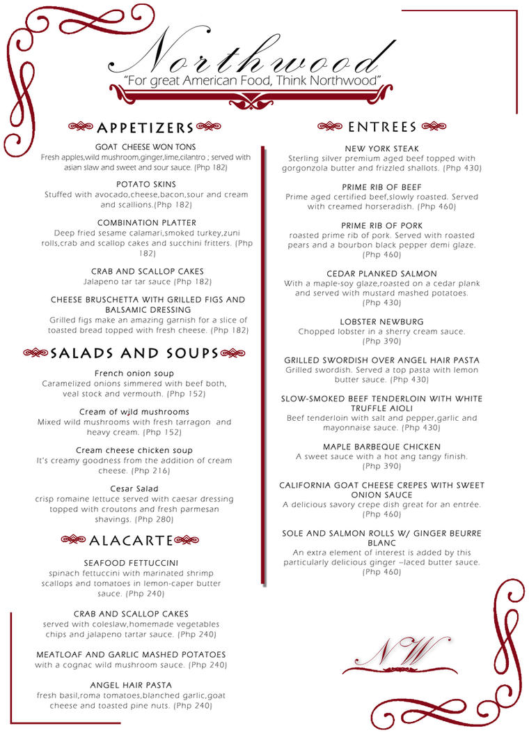 fine dining menu template free - fine dining menu by kanuts on deviantart