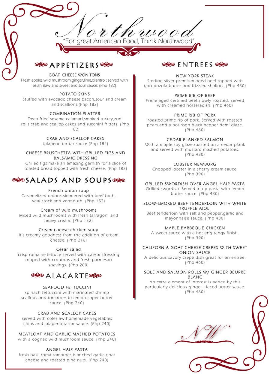 Upscale restaurant menus images reverse search for Artistic cuisine menu