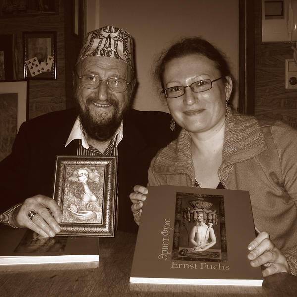 Prof. Ernst Fuchs and me by semraturkmen