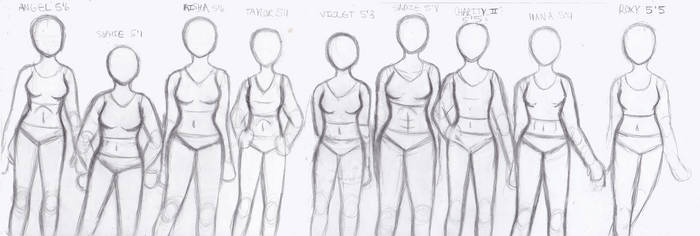 Female Figure Practice by Gabby413