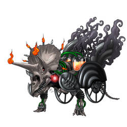 Triceratops steampunk by verdilaksBreeding