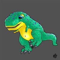 cute baby t-rex by verdilaksBreeding