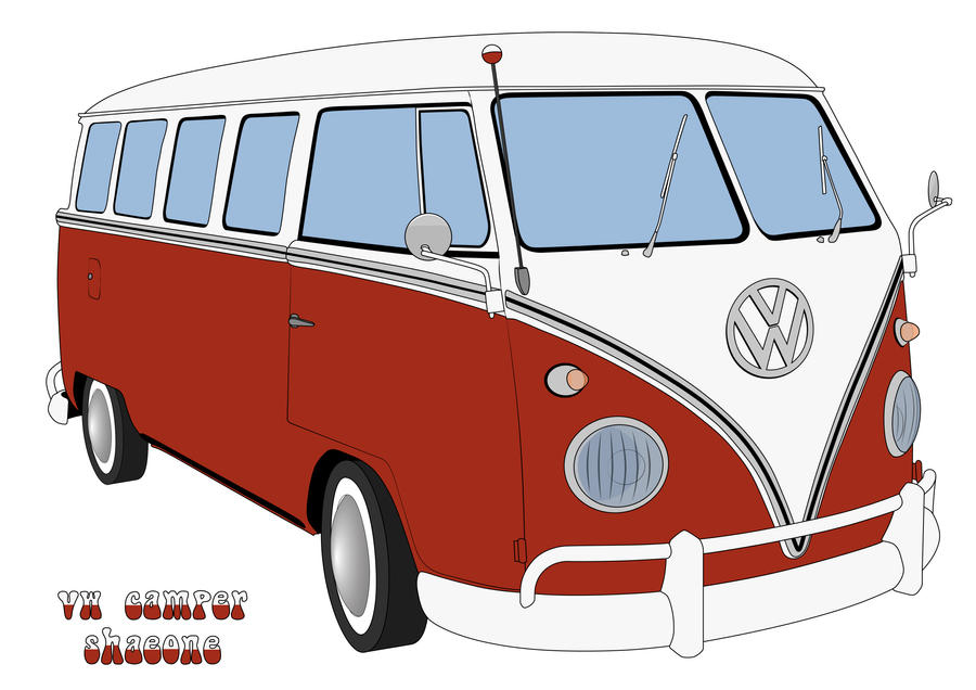 VW Camper Vector by shaeone on DeviantArt
