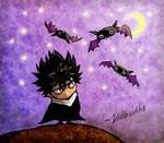Chibi-Hiei with bats