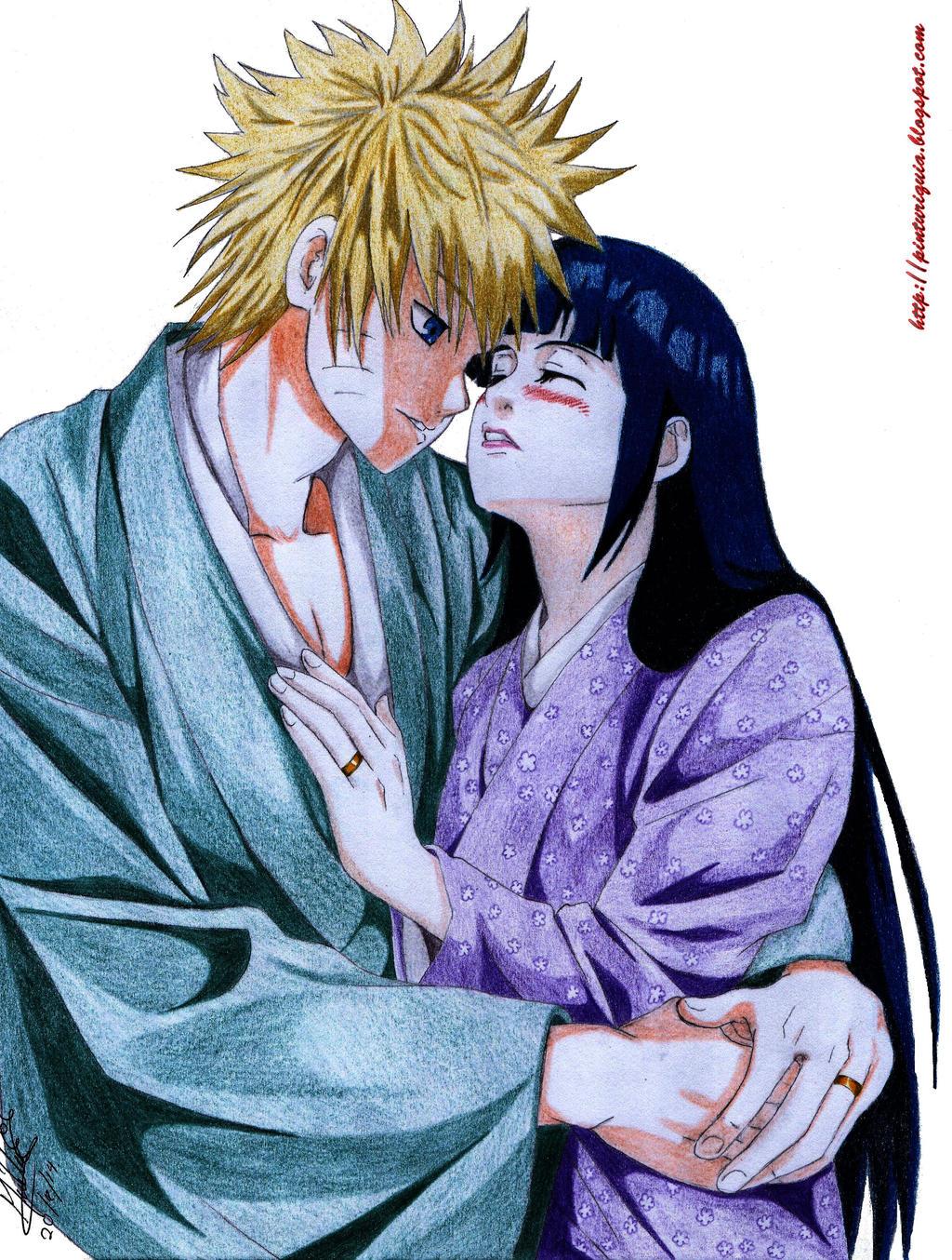 Naruto Y Hinata Kiss by shinamvec on DeviantArt
