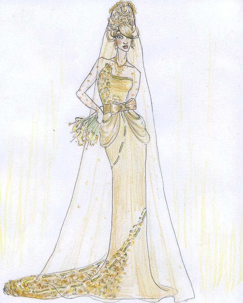 Golden Wedding Gown By Realityundersiege
