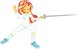 Sunset Shimmer fencing