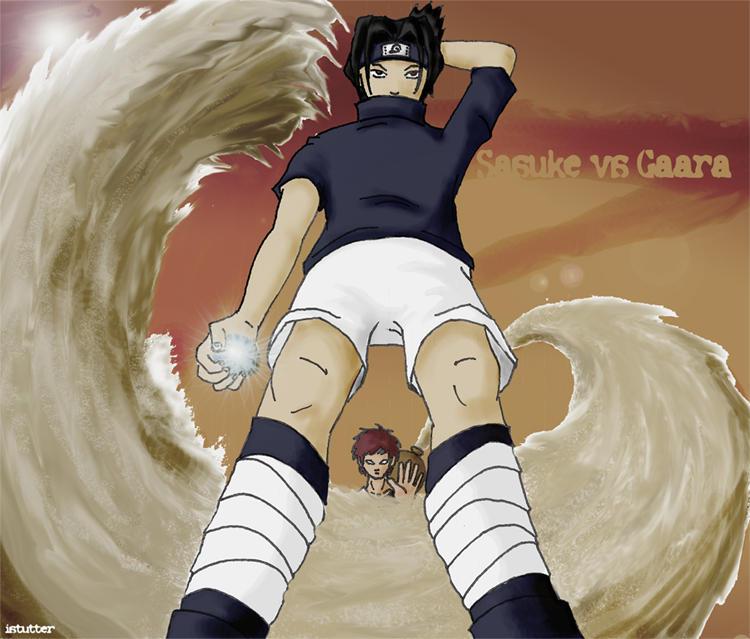 Sasuke vs. Gaara by istutter on DeviantArt