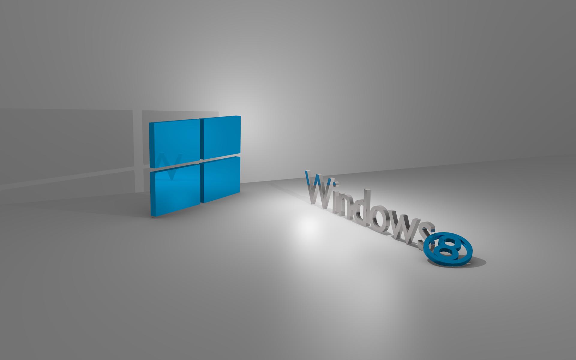 Windows 8 3D Wallpaper (Linux Mint ...
