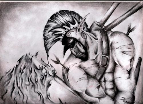 Sacred Warrior by MimicSkull
