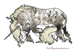 Spotted Unicorn Adoptable TAKEN by CaveLupa