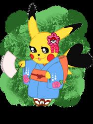 Cosplay Pikachu - Kimono Version