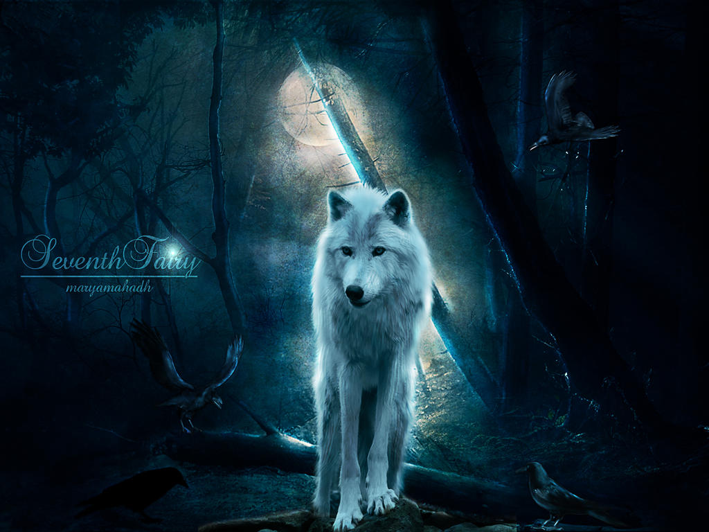 wolf and ravens by seventhfairy on deviantart